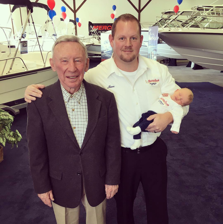 3 generations of Clemons Boats