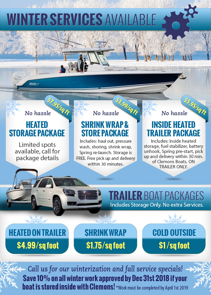 Winter Storage and Services at Clemons Boats
