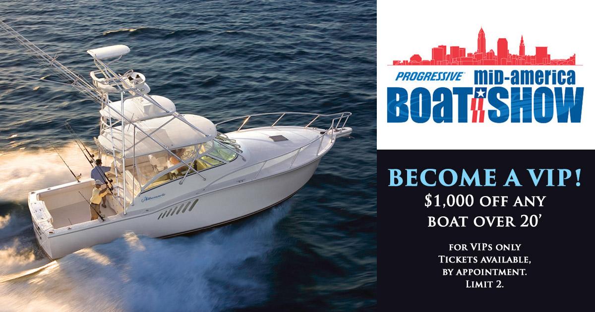 Mid-America Boat Show January 18-21, 2018