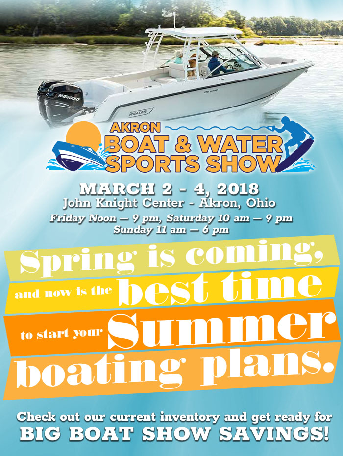 Clemons Boats at the Akron Boats and Water Sports Show - March 2-4, 2018